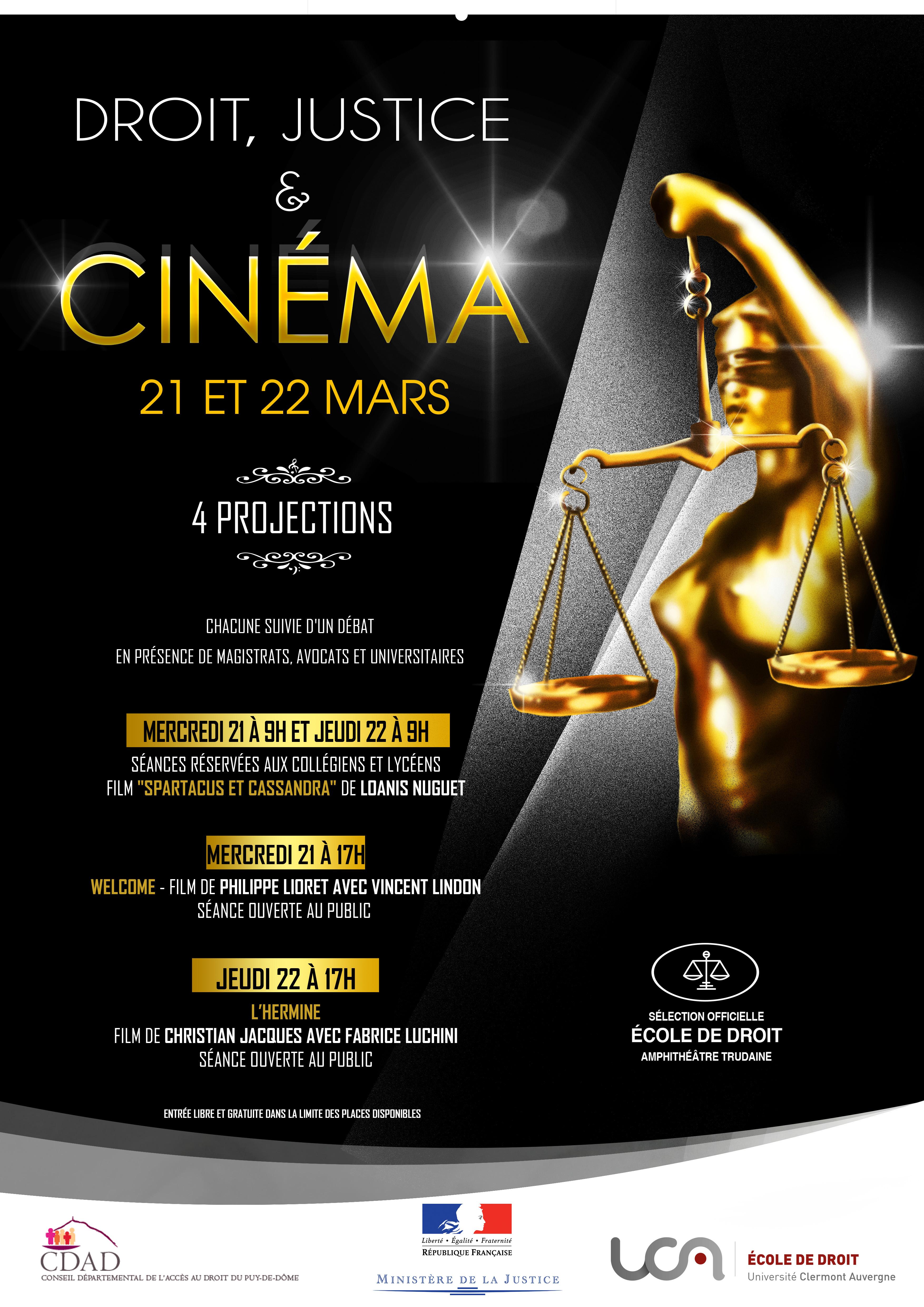 Festival Droit, Justice et Cinéma 2018
