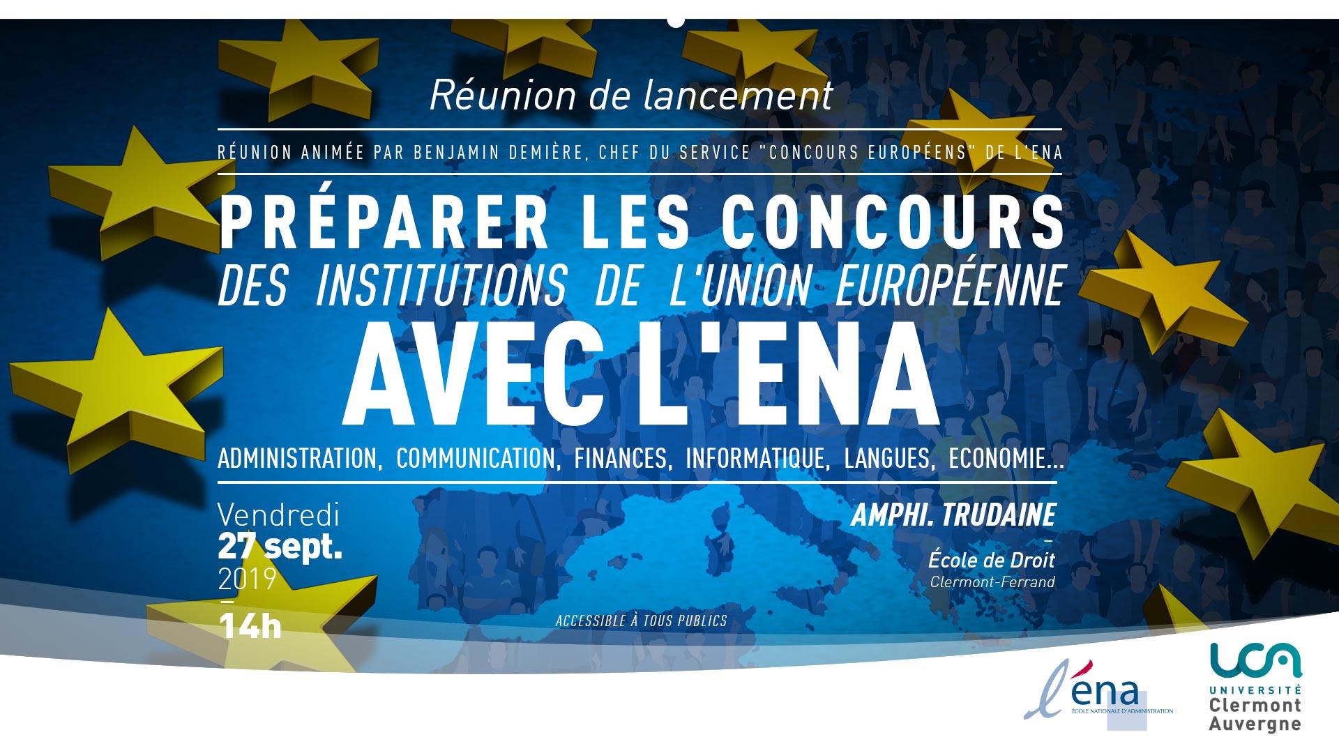 Concours des institutions de l'UE